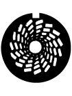 EUROLITE Gobo SQUARE-SQUALL, D-Size, 53,3mm