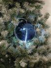 LED Snowball 8cm, dunkelblau 5x