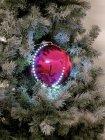 LED Snowball 8cm, rosa 5x