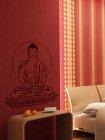 Wandschablone im XXL-Format Buddha