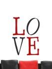 Wandschablone im XXL-Format Love