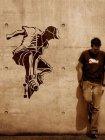 Wandschablone im XXL-Format Skateboard