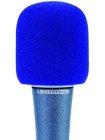 Windschutz für Mikrofone blau