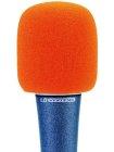 Windschutz für Mikrofone orange