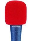 Windschutz für Mikrofone rot