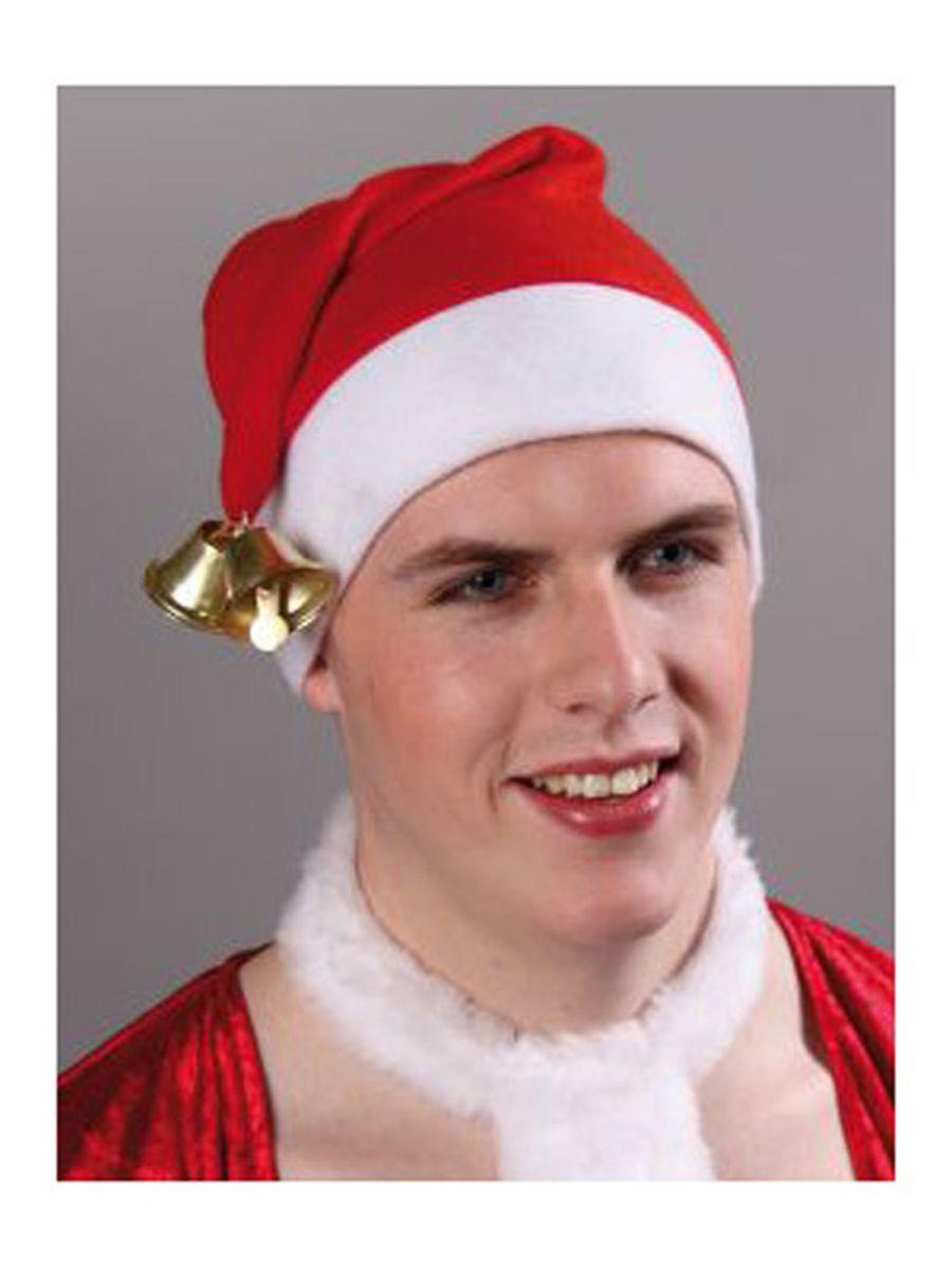 Nikolausmütze mit LED-Leuchtbommel Kostüm Accessoires Nikolaus