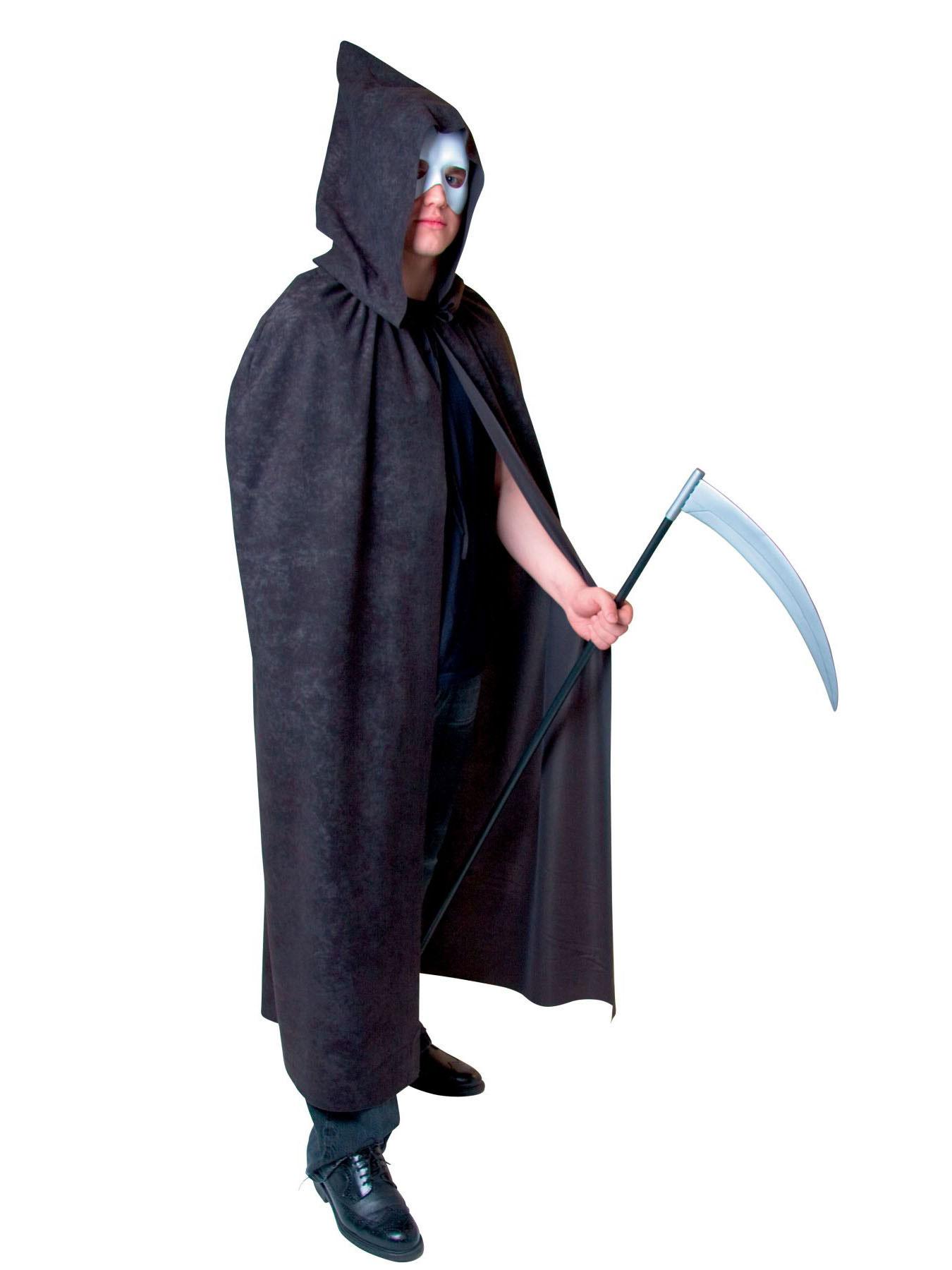 schwarzer Umhang Universal Cape Vampir Horror Ball Halloween Karneval Kostüm neu