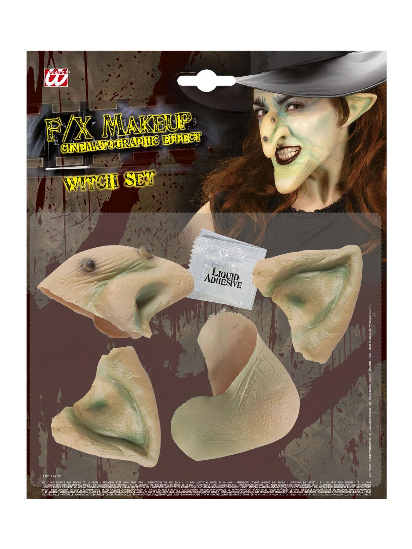 Latexnase Hexennase lustige Nase Fasching Kostüm Hexe