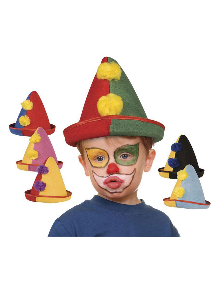 Hut Dachauer mit Filzpunkten Clown Karneval Fasching