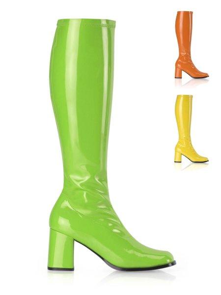 Details zu 1 Paar Hippie Stiefel GoGo Fasching Karneval Schuh Party Disco