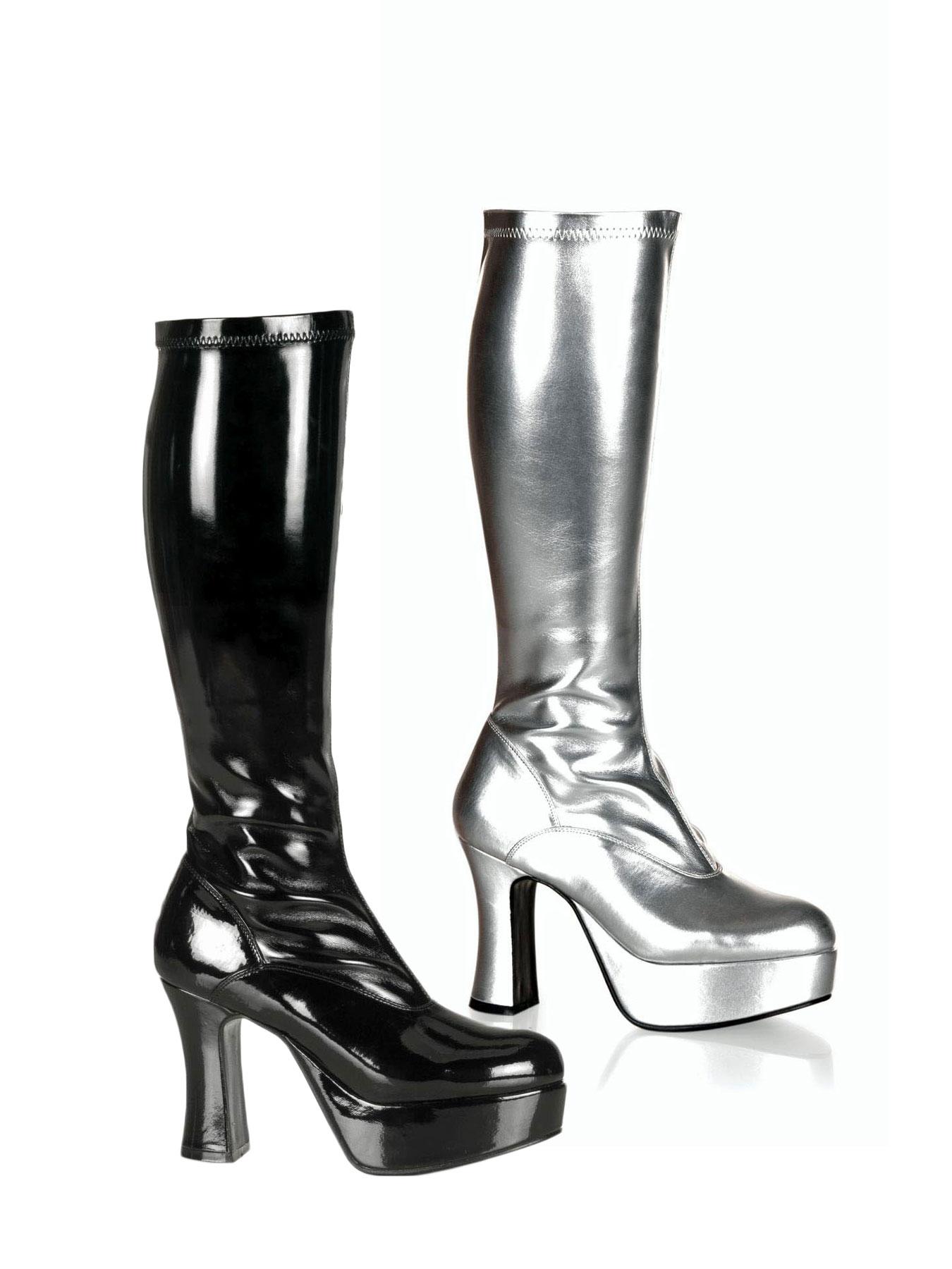 hot girl gogo stiefel lack schwarz overknee ebay. Black Bedroom Furniture Sets. Home Design Ideas