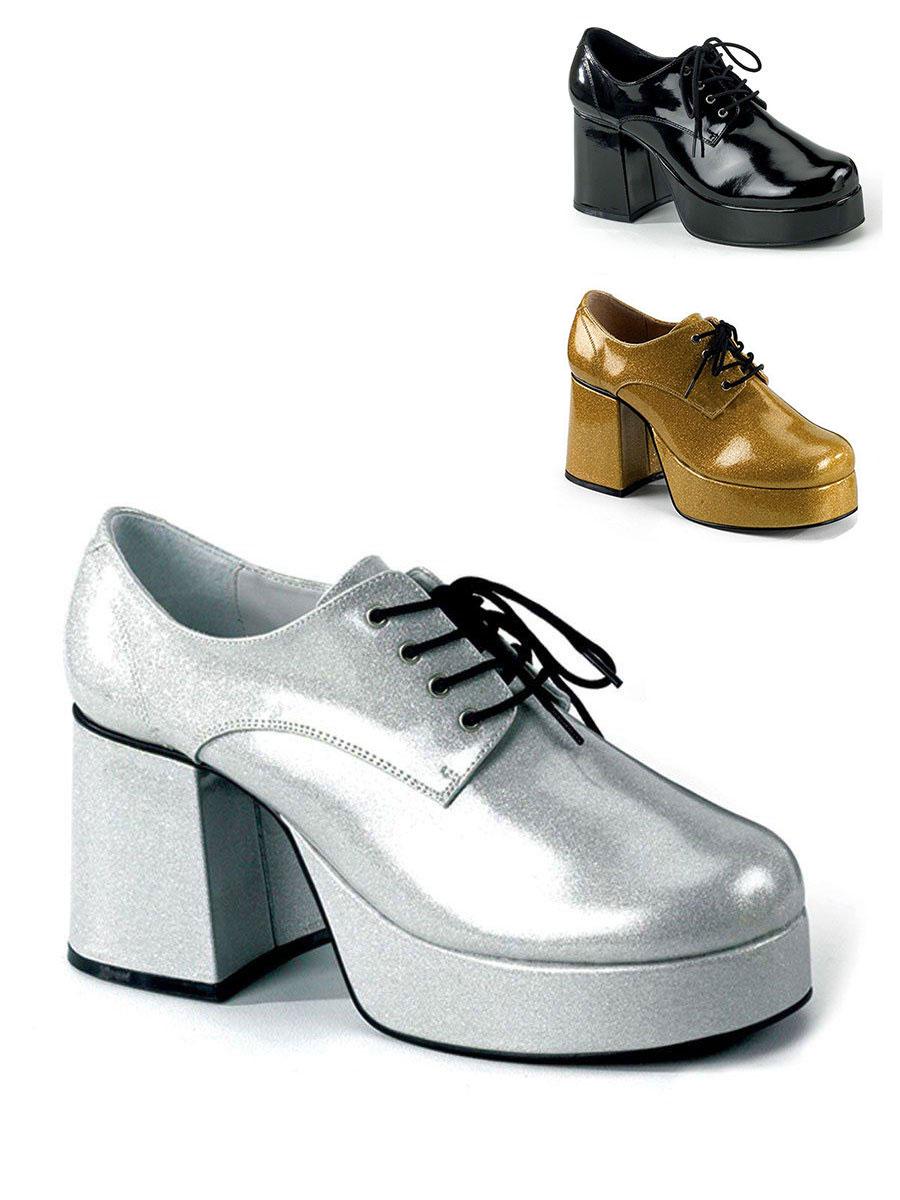 Herren Fasching 1 Paar Party Schuh Plateau DiscoEbay Karneval Schuhe PnX0w8Ok