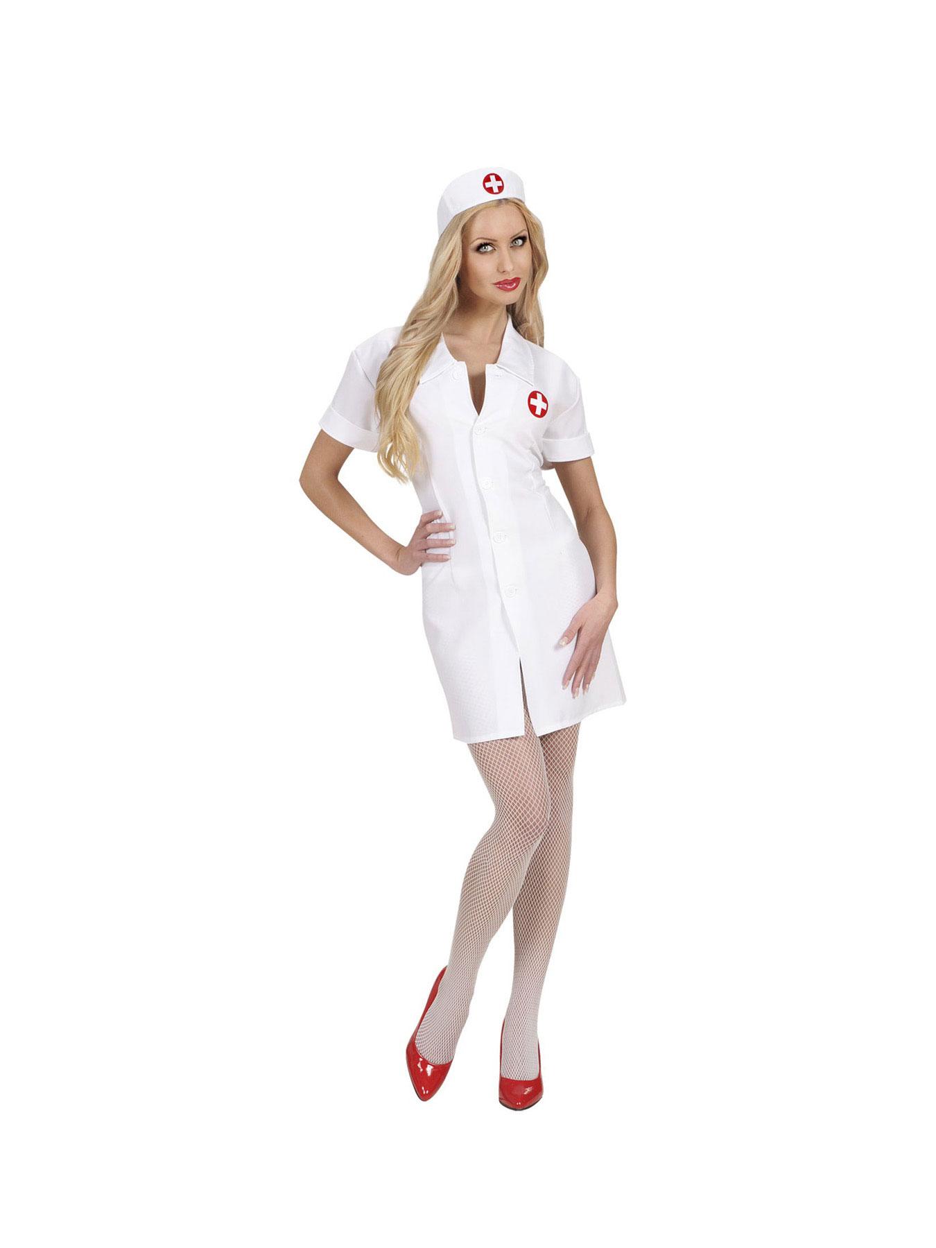 Kostüm Krankenschwester Kleid mit Haube Mottoparty Fasching