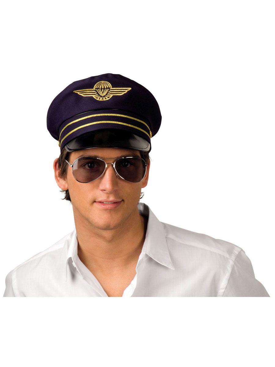 Mütze Pilot Erik Fasching Karneval Fliegermütze