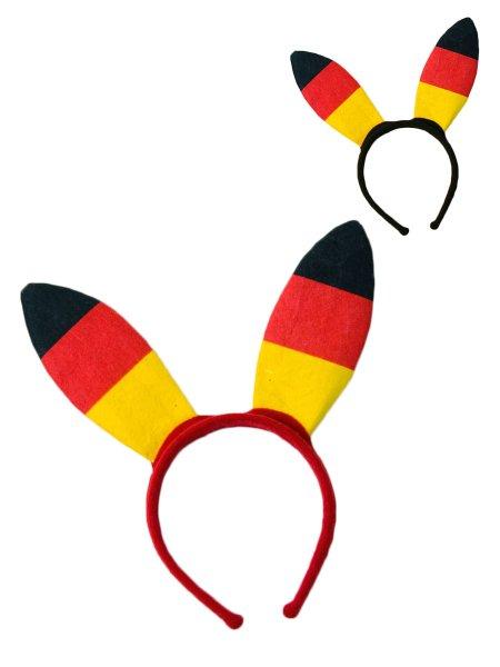 """Kopfbügel mit Bunny-Ohren /""""Deutschland/"""" Party Kostüm Accessoires"""