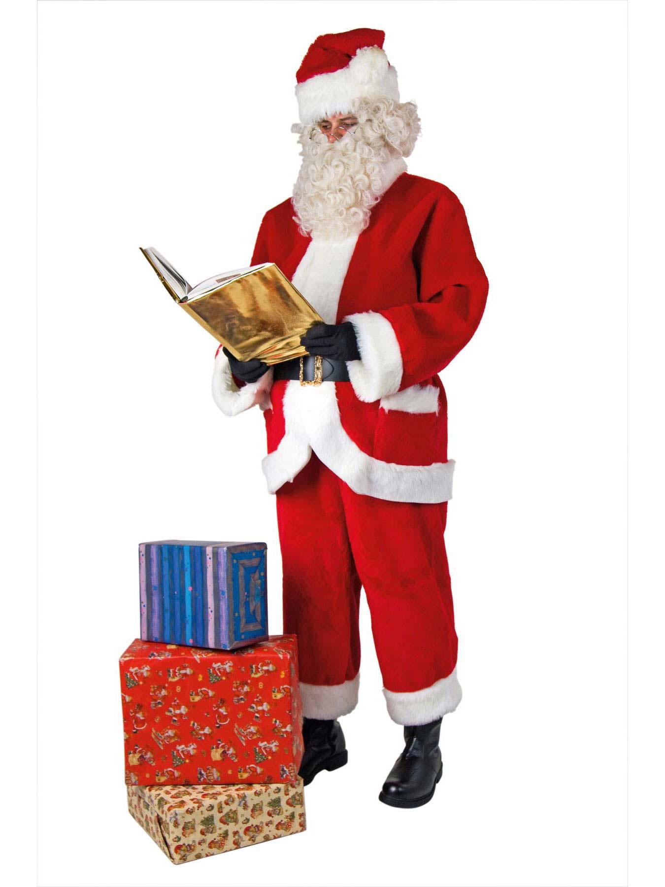 weihnachtsmann set mit bart m tze und g rtel nikolaus ebay. Black Bedroom Furniture Sets. Home Design Ideas