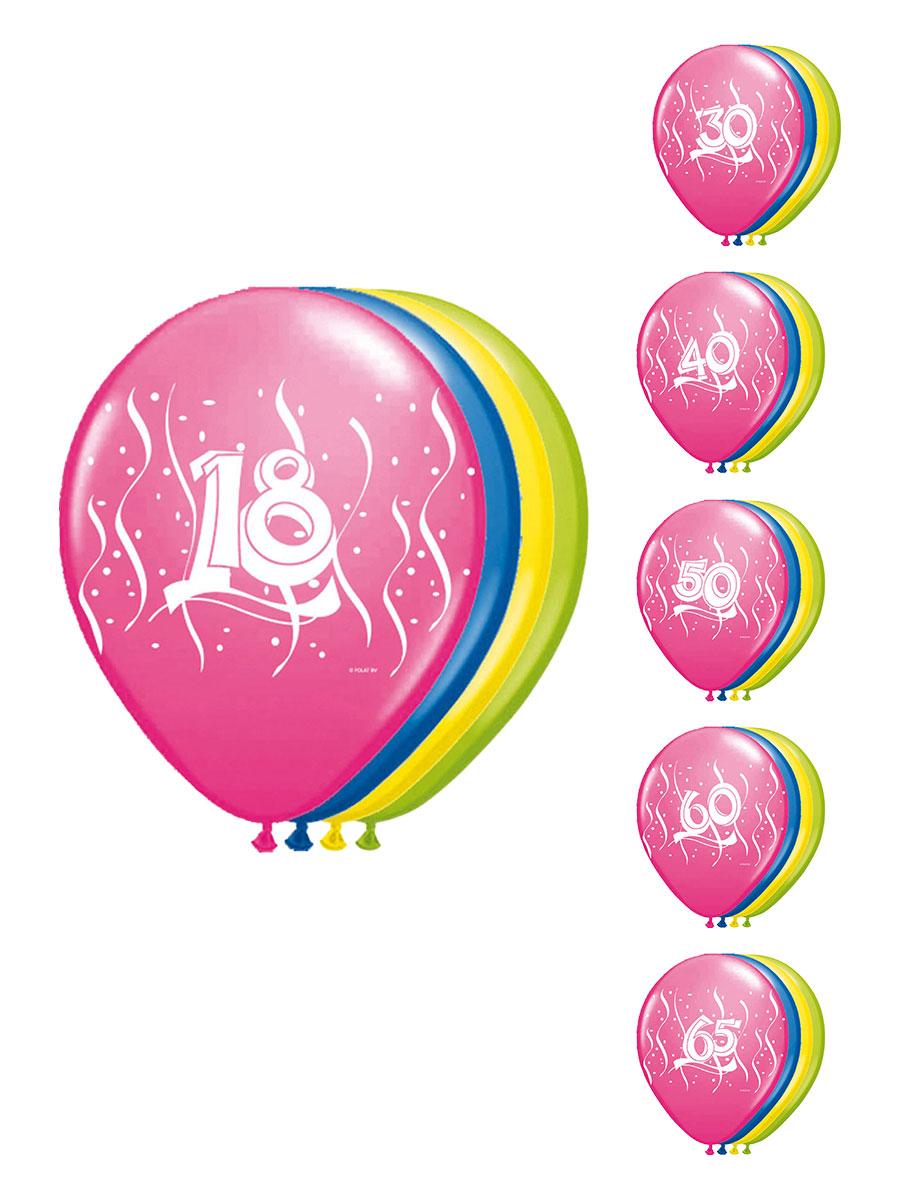 Party- & Eventdekoration 5x Luftballons Gold 12In/30cm Zahl Geburtstag