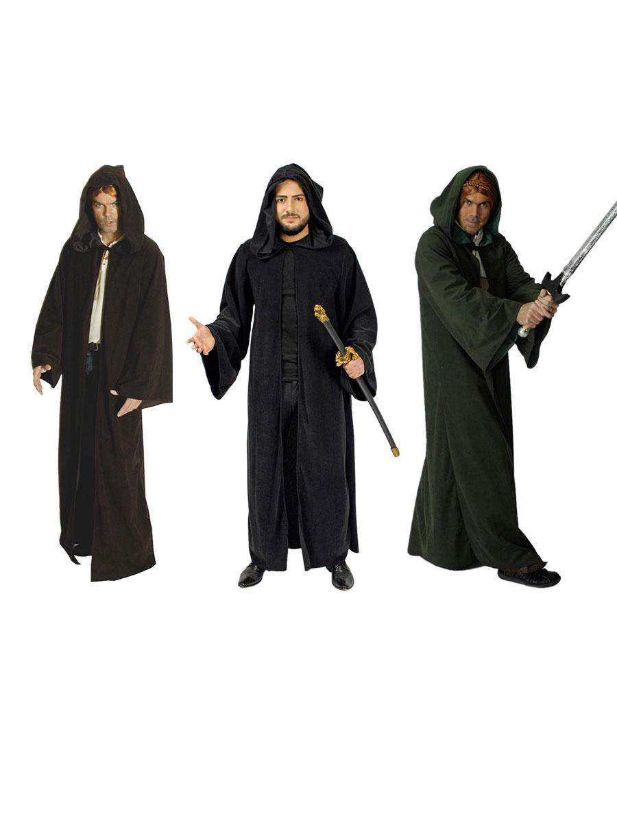 Druide Mantel Fasching Kostüm Zauberer Kelten Karneval