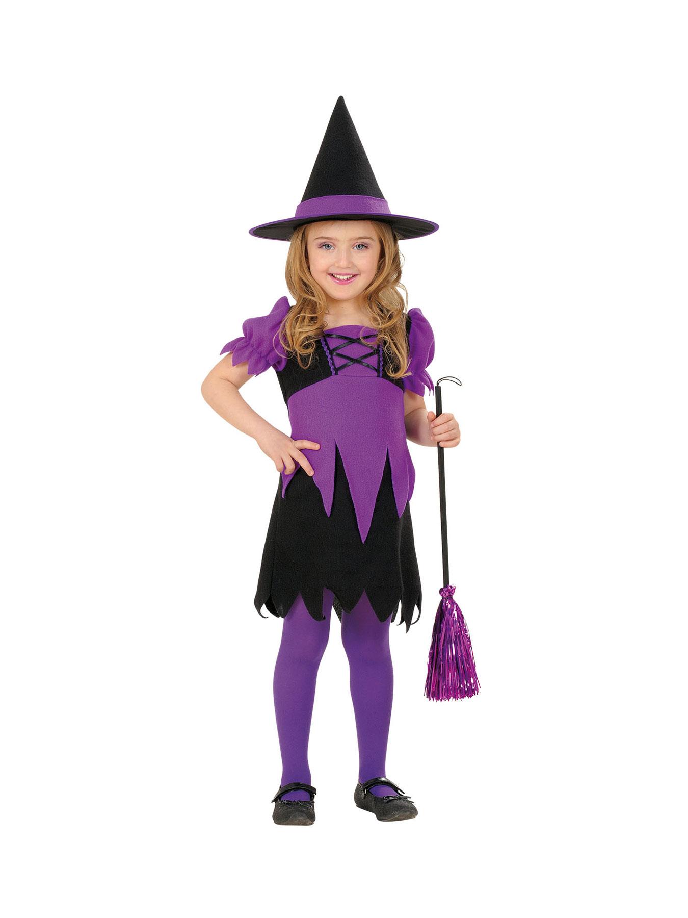 Kostum Fur Kinder Hexe Violet Karneval Fasching Halloween Ebay